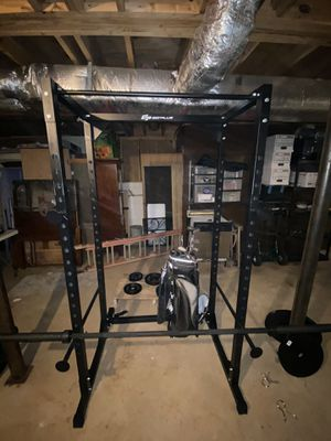 Workout equipment Power Rack weights and Bar for Sale in Woodstock, GA
