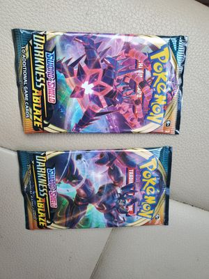 2 Darkness Ablaze Pokemon Card Packs *FACTORY SEALED* for Sale in Rutherford, NJ