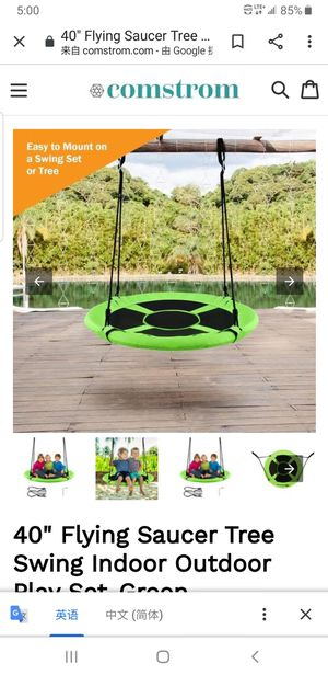 """40"""" Flying Saucer Tree Swing Indoor Outdoor Play Set-Green SP36638GN for Sale in South El Monte, CA"""