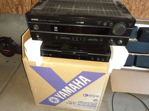 Yamaha stereo system CD DVD player and amplifier full set of surround sound side Center and woofer for Sale in Littleton, CO
