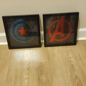 Lot Of 4 Marvel Comics Superhero Logo Pictures for Sale in Takoma Park, MD