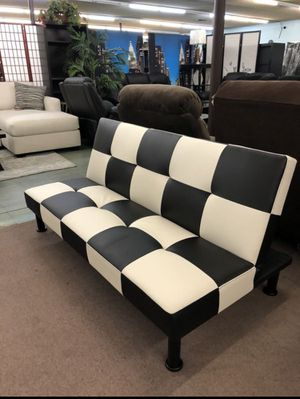 ✨ Leather Black & White Futon for Sale in North Highlands, CA