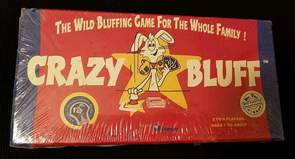 "2004 ""CRAZY BLUFF"" Blue Orange The Wild Bluffing Game For The Whole Family!"