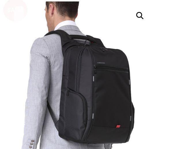"Kingsons 15.6"" Laptop Backpack External USB Charger Anti-Theft Waterproof Bag."