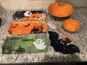 Halloween Melamine Trays and Bowls for Sale in Ladera Ranch, CA
