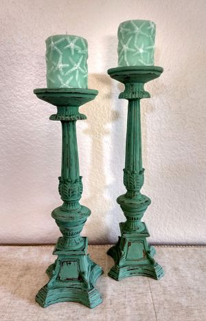 Candle Holder Pillars and Candle Set for Sale in San Diego, CA