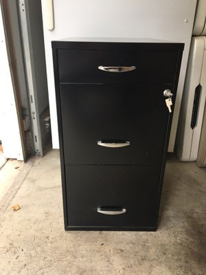 Three Drawer Filing Cabinet with Lock for Sale in Azusa, CA