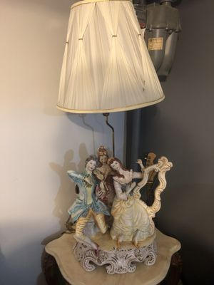 Matching Capodimonte antique table lamps for Sale in Chicago, IL