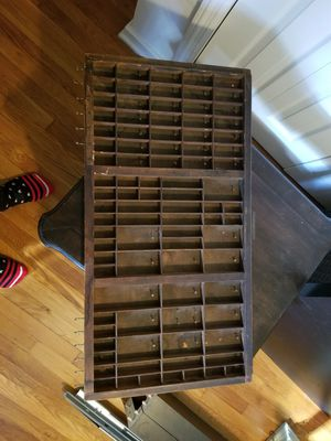 Vintage Printer Tray with nails/hooks for jewelry for Sale in Alexandria, VA