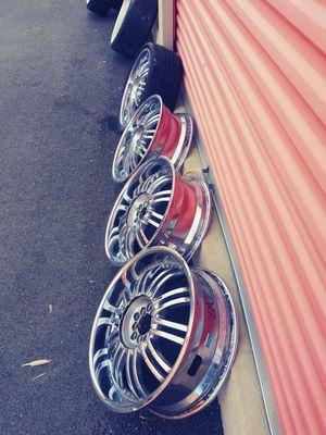 20in Chrome Strada Rims for Sale in Austin, TX
