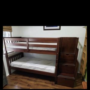 Twin Bunk Bed With Storage Stairs for Sale in Bonita, CA