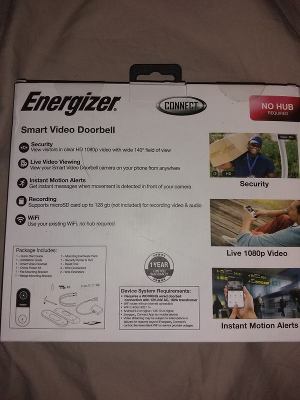 Energizer Smart Video Doorbell