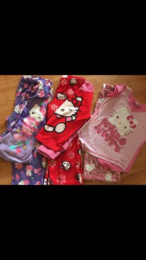 Hello Kitty Clothing Pjs 4T/5T. 3 pairs for Sale in San Jose, CA