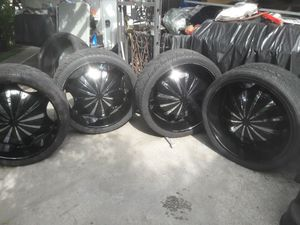 "26"" inch rims and tires. for Sale in Paramount, CA"