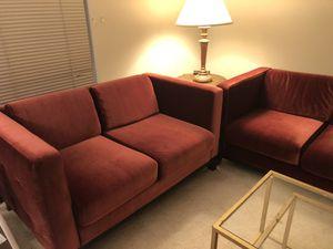 Red Velvet Couch Set for Sale in Falls Church, VA