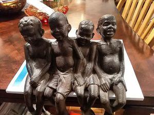 Solid metal casting of 4 boys - heavy for Sale in Marietta, GA