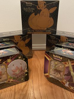 Pokemon Shining Fates Elite Trainer Box, Tin, Pin, ETB for Sale in Bellevue,  WA