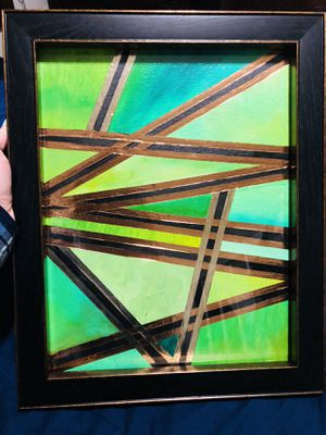 11x14 Hand painted Abstract art & frame for Sale in Virginia Beach, VA