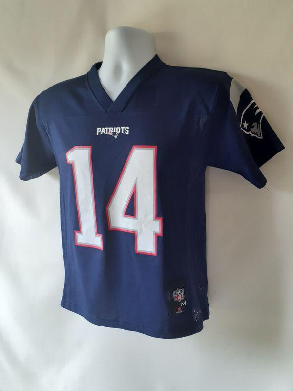 New England Patriots boys football Jersey #14 Brandin Cooks size M (10-12)