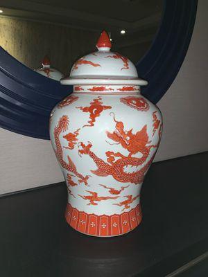"18"" Tall Oriental Dragon Jar w/ Lid for Sale in Chantilly, VA"
