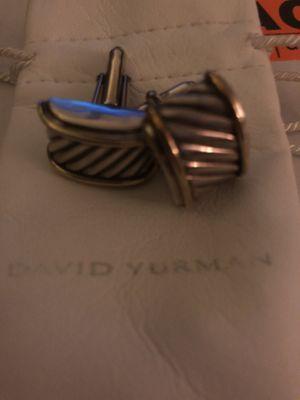 David Yurman Sterling and 14k gold Cufflinks for Sale in Washington, DC