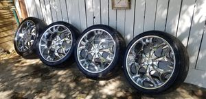 24 rims 6 lug. Chevy Good condition for Sale in Fresno, CA