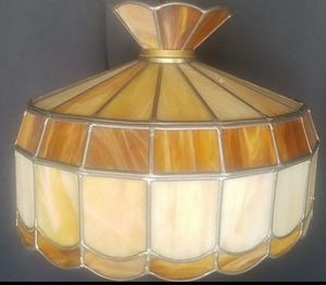 2 vintage mid century stained glass hanging light fixtures. Asking $100 each for Sale in Chicago, IL