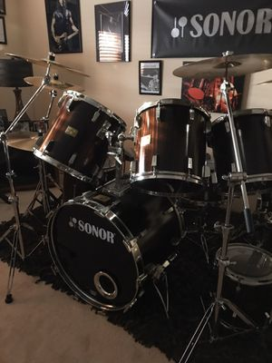 """Sonor Signature """"Horst Link"""" Makassar Ebony Drumset for Sale in Mokena, IL"""