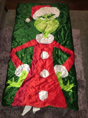 3D Dr. Seuss Grinch Sleeping Bag for Sale in San Antonio, TX