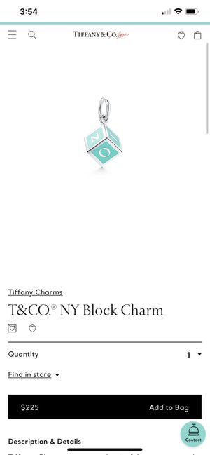 Tiffany & Co block charm with Tiffany chain for Sale in Round Rock, TX