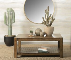 $159 - Rustic Brown Solid Wood Coffee Table for Sale in El Monte, CA