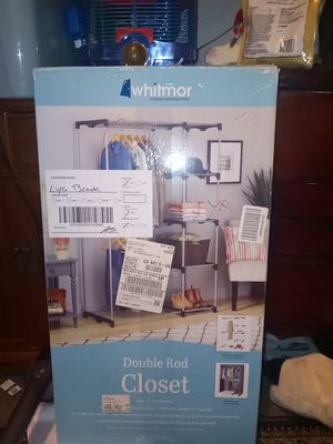 Whitmor double rod closet brand new just opened the box for Sale in San Francisco, CA