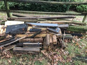 Free firewood (landscape timbers, 4x4's and 2x4's) for Sale in Mount Joy, PA