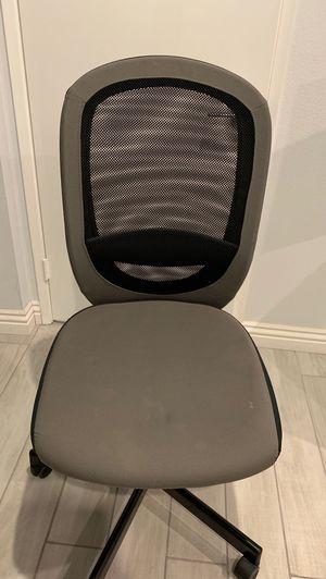 Grey black office desk chair for Sale in Glendale, CA