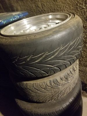 16x8 fronts 16x9 rears 4x100 wagen wheels for Sale in Fresno, CA