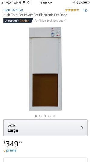 Large automatic dog door with collar for Sale in Mount Juliet, TN