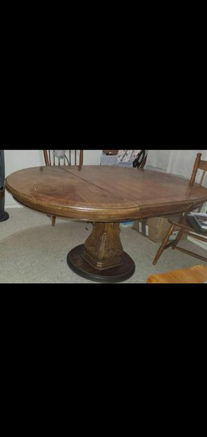 Antique oval wood table for Sale in El Monte, CA
