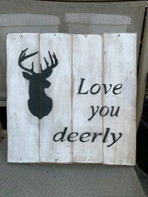 Rustic handmade deer sign for Sale in Lake Charles, LA
