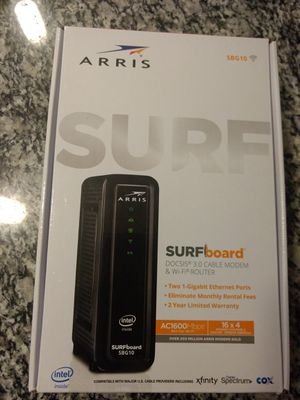 Arris SBG10 surfboard cable modem & wifi router for Sale in Land O Lakes, FL