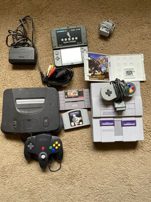 Snes n64 3ds xl with games for Sale in Lincoln, NE