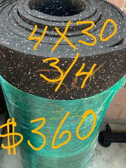 Gym Mats Rubber Commercial Grade 3/4 Thickness At $3 The Square Foot for Sale in Lynwood,  CA