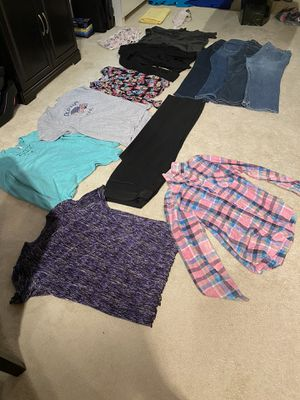 Women's clothes shirts and jeans size 18 and slacks bra shorts for Sale in Centreville, VA