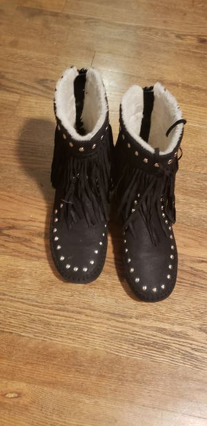 Size 7 boots with fringe for Sale in Denver, CO