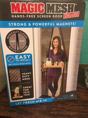 Magic mesh hands free screen door strong and powerful magnets new for Sale in Tijuana, MX
