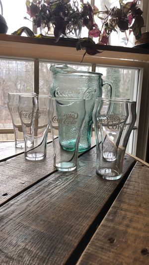 Coca-Cola collectible set of 6 glasses for Sale in Sound Beach, NY