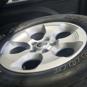 Jeep wrangler wheels and tires for Sale in Charlestown, RI