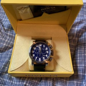 Men's Invicta Aviator 52mm Leather Strap Watch for Sale in Los Angeles, CA