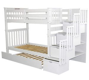 White bunk beds with extras for Sale in Columbus, OH