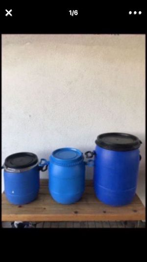 Containers ♻️storage 5/10/30 gallons for Sale in Garden Grove, CA