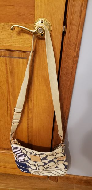Coach cotton canvas cross body bag for Sale in Fort Wayne, IN